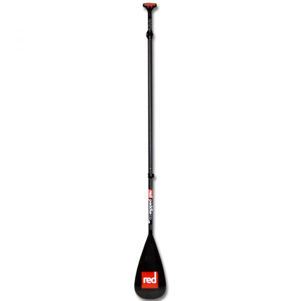 Carbon 3 piece sup paddle red paddle co