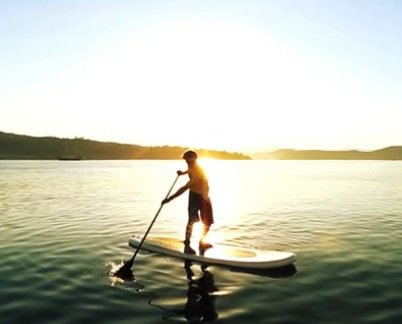 reverse paddle turn on a stand up paddle board