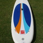 outline of red paddle co inflatable sup board