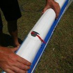 RSS batten string tucked away on Red Paddle Co inflatable paddle board
