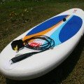 Red Paddle Co 10ft Surfer top deck at the tail