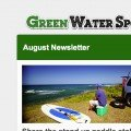 august newsletter from green water sports
