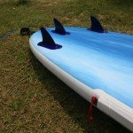 iFins and RSS batten end on inflatable Red Paddle Co SUP
