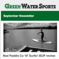 september SUP newsletter by green water sports