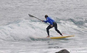 Paddle boarding the wrong way