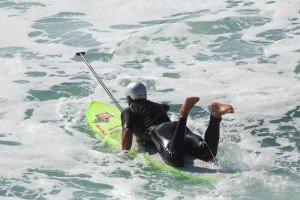 Rob Casey image of prone paddling SUP