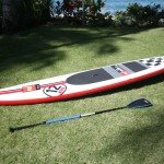 Red Paddle Co 12ft 6in inflatable racing stand up