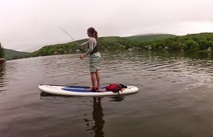 SUP fishing - Red Paddle Co stand up fishing