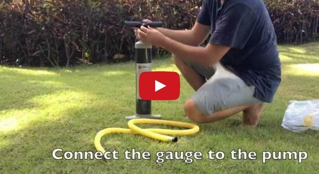 setting up your inflatable sup pump