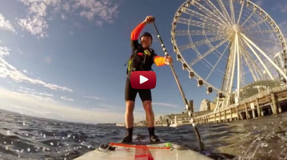 Darrel Kirk paddling his Red Paddle Co inflatable SUP