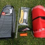 Contents Red Paddle Co SUP wheeled bag