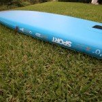 US Box style fin in inflatable SUP