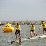 Chasing the leader in SUp race