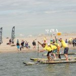 Start line of inflatable SUP race