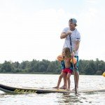 Touring inflatable paddle board by Naish