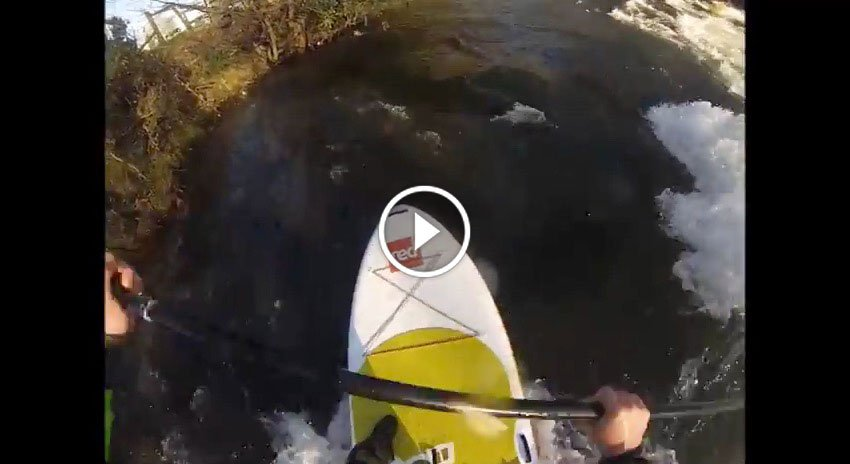 Paddling the red paddle co inflatable sup