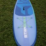 cargo area of the the 2027 whopper zen inflatable paddle board