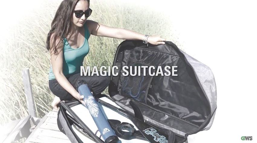 starboard inflatable paddle board magic suitcase isup bag