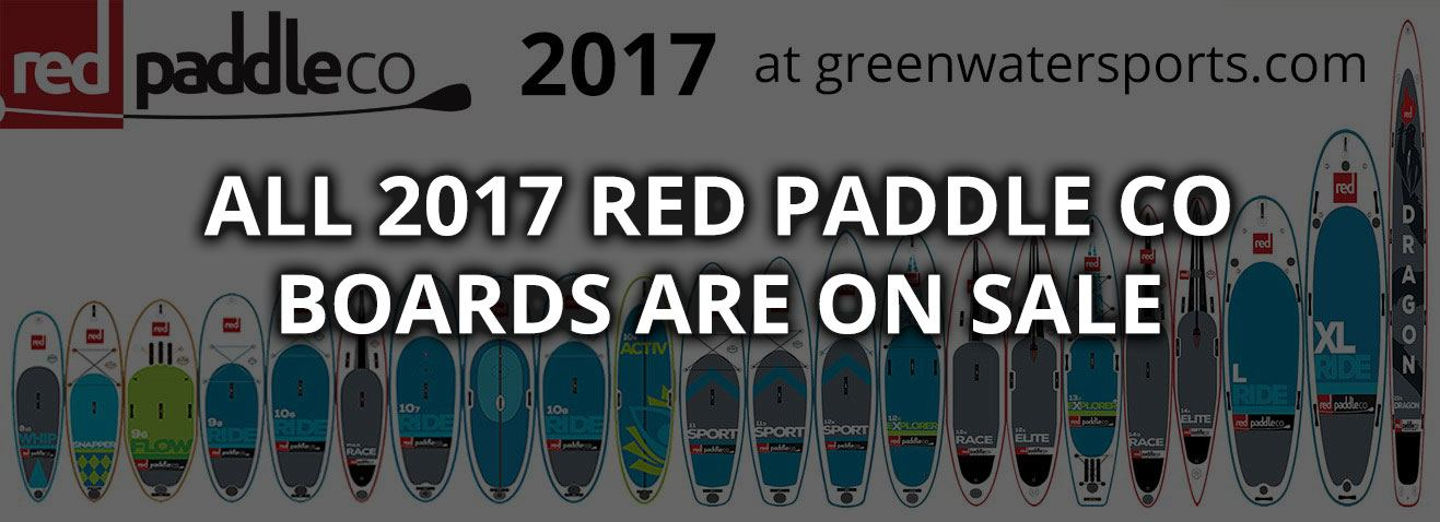 on sale all 2017 Red Paddle Co inflatable paddle board range