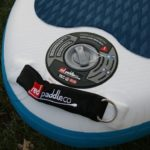 tail handle and leash d ring on ride 10 6 inflatable paddle board