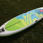 red paddle co inflatable paddle board activ 10 8 green water sports