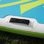 side carry handle on yoga paddle board sup green water sports