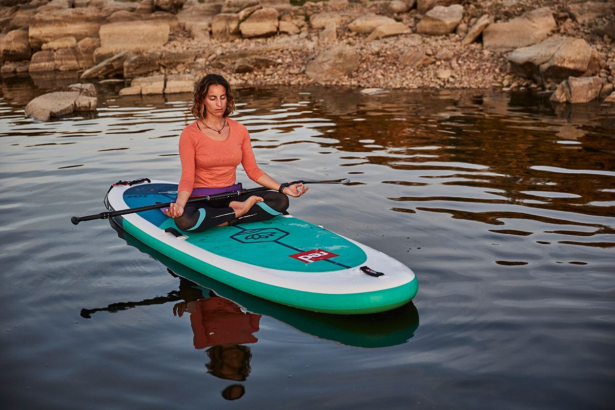 red paddle co inflatable paddle board best yoga sup green water sports