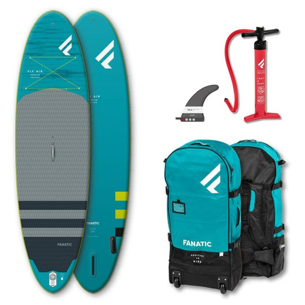2020 fanatic fly air premium 10 4 and 10 8 inflatable stand up paddle board green water sports