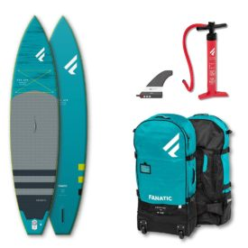 2020 fanatic ray air premium touring inflatable paddle board green water sports