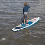 red paddle co inflatable sup touring paddle board green water sports