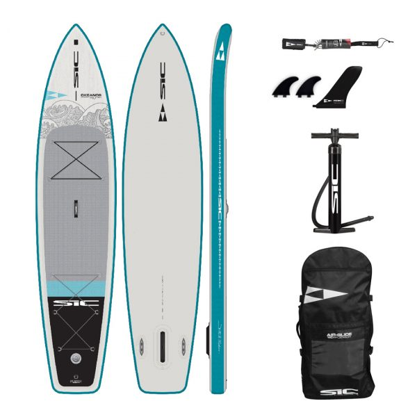 sic maui okeanos 11×29 inflatable touring sup green water sports 1