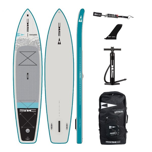 sic maui okeanos 11×29 inflatable touring sup green water sports