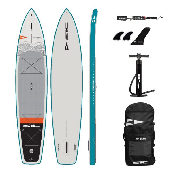 sic maui okeanos 12 6×31 inflatable touring sup green water sports 1