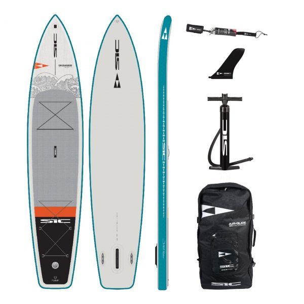 sic maui okeanos 12 6×31 inflatable touring sup green water sports