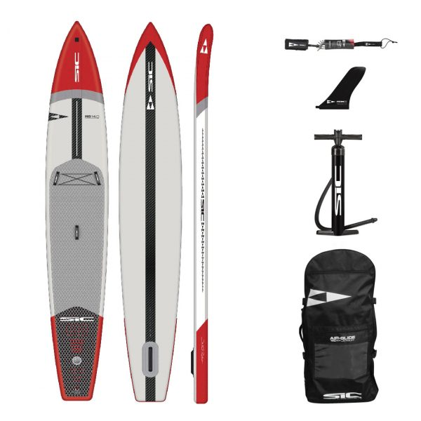 sic maui rs air 14×28 inflatable racing sup green water sports 1