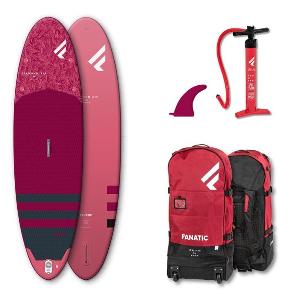 fanatic 2020 diamond air inflatable stand up paddle board green water sports