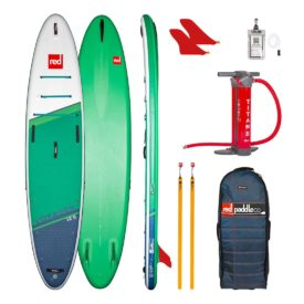 2021 red paddle co 12 6 voyager touring adventure inflatable sup best paddle baord green water sports