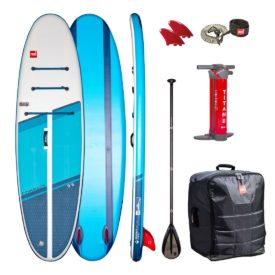 2021 red paddle co 9 6 compact inflatable sup paddle board package with paddle and leash all round green water sports