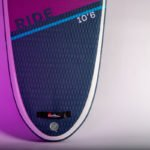 rear and extended deck pad of 2021 red paddle co ride 10 6 special edition all round ladies sup green water sports