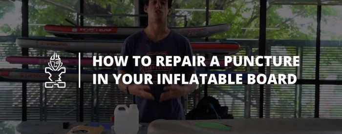 how to repair your inflatable paddle board puncture with starboard
