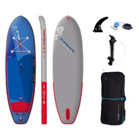 2021 starboard 10 x 34 igo deluxe single chamber stand up inflatable paddle board sup green water sports