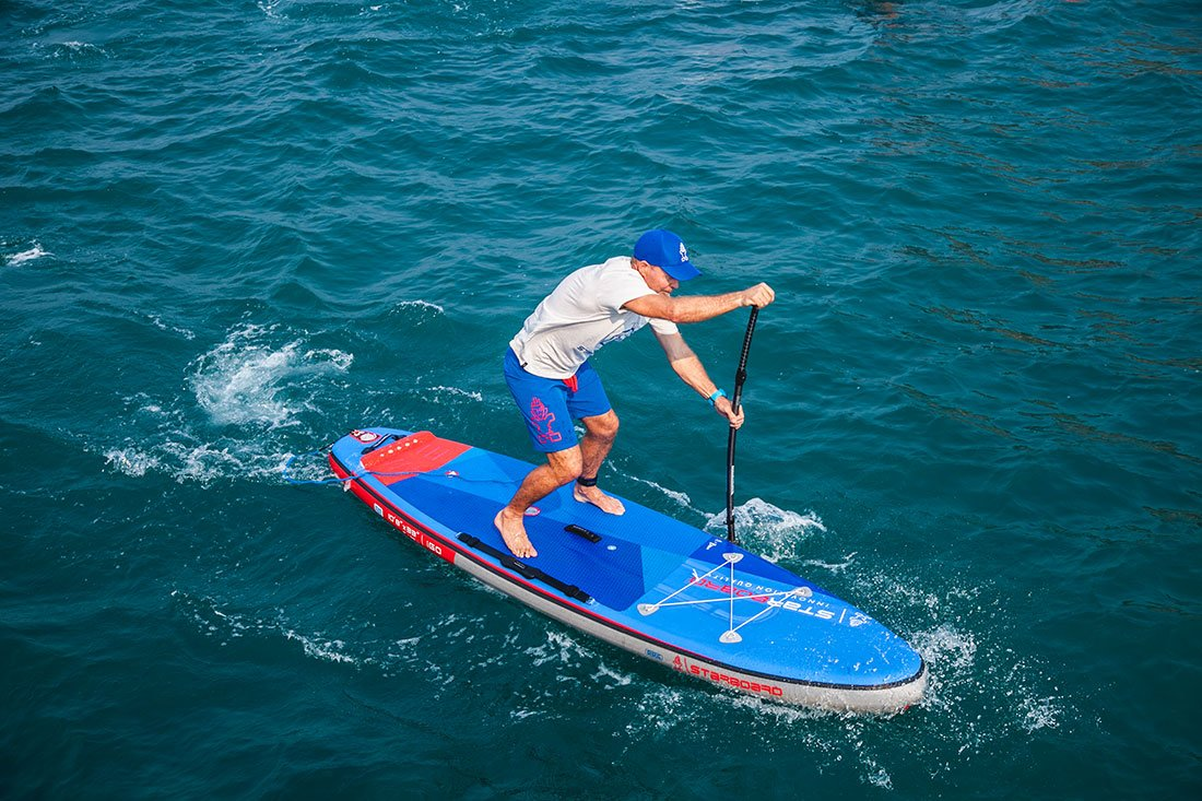 paddling technique with starboard and green water sports