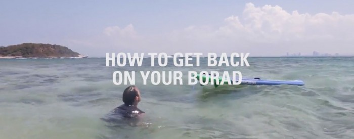 how to get back on your paddle board